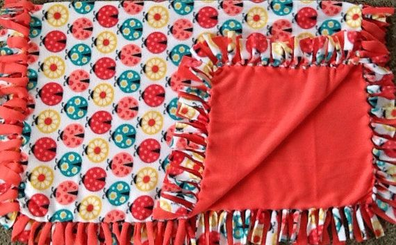 #Love lovely ladybugs  fleece tie blanket, reversible tie blanket, valentines blanket. Shop here: https://www.etsy.com/listing/266606067/lovely-ladybugs-fleece-tie-blanket?ref=shop_home_active_2 #simpleesweetboutique