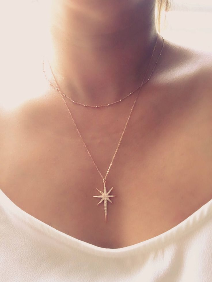 Polaris Necklace, North Star Necklace, Womens Necklace, Rose gold plated Necklace, North Star Jewelry, Mothers Day Gift, muse411, by Muse411 on Etsy https://www.etsy.com/listing/488622431/polaris-necklace-north-star-necklace