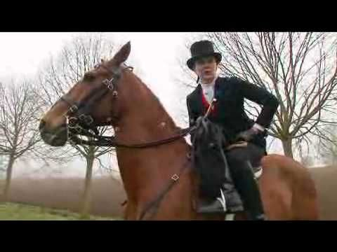 Rebecca Holland demonstrates how ladies from the late Victorian period rode side-saddle.