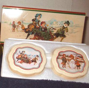 vintage avon products | Vintage Avon White Christmas Collection Decal Soap Set