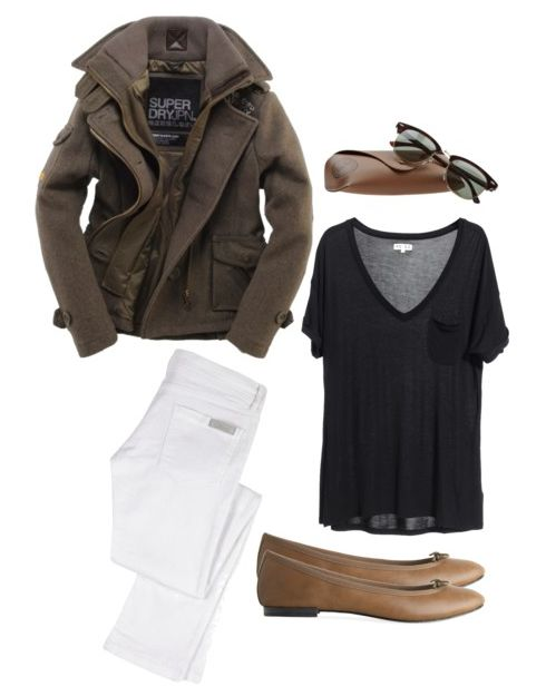 I just dont like ballet flats and white pants. Maybe boots and dark jeans.