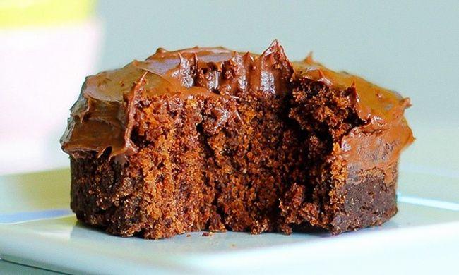 Вкуснющий шоколадный кекс в микроволновке за 5 минут