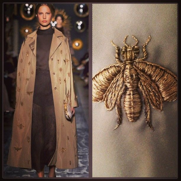 "not normally a huge fan of bugs but i would totally wear this. Valentino ""Le Cabinet des Insectes"" 800 hours of embroidery"