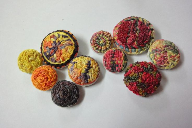 Looking for your next project? You're going to love Embroidered Buttons by designer ColourSpun.
