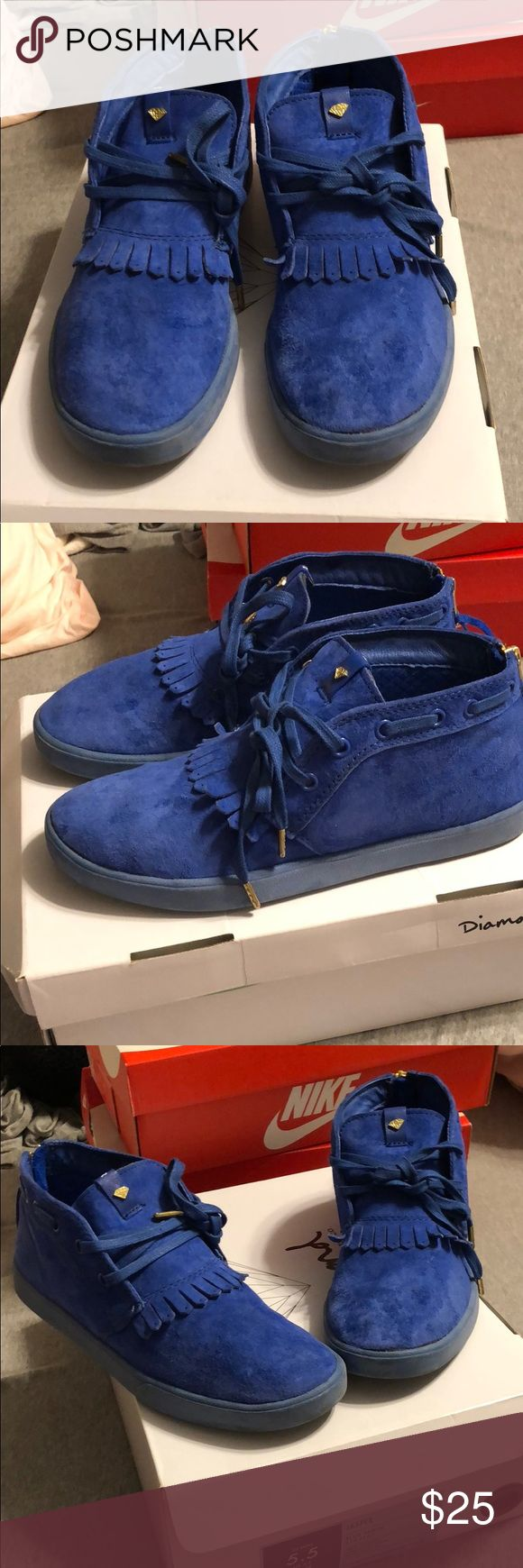 Diamond Supply Co. Jasper Blue Suede Blue suede shoes by Diamond Supply Company. Sz 5.5 in mens which is a Women's 7 Diamond Supply Co. Shoes Sneakers