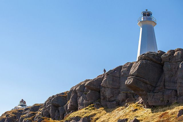 Cape Spear Lighthouse National Historic Site, Newfoundland and Labrador, is a great place to spot whales and icebergs and is an iconic landmark located on dramatic cliffs where the sun rises first in North America.