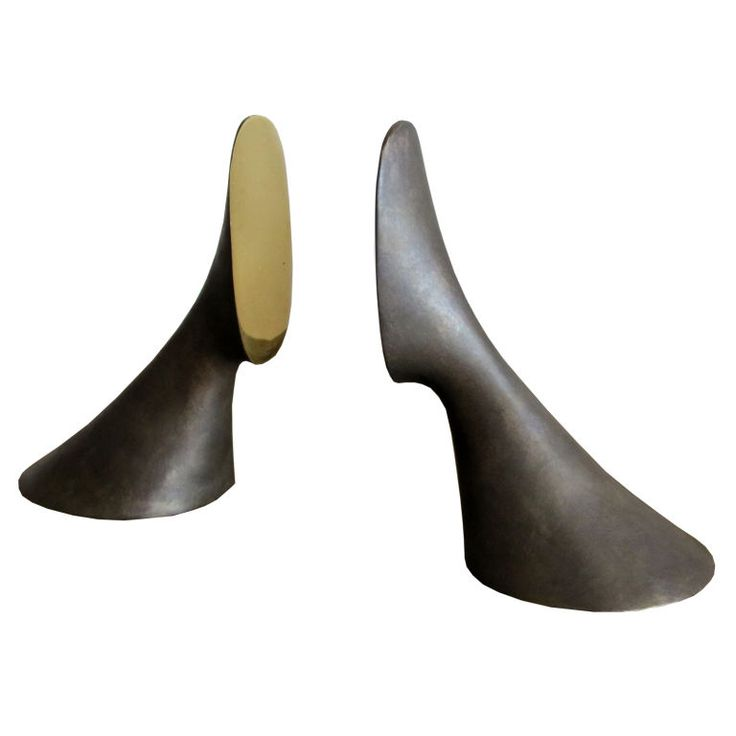 Carl Aubock Bookends at 1stdibs