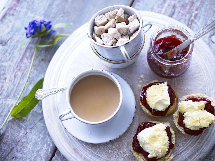 The obligatory Cornish cream tea with lashings of Rodda's Clotted Cream- yum!