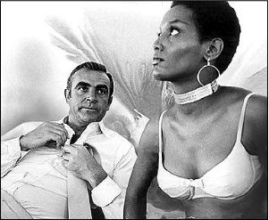 Trina Park played Thumber, the first black Bond girl, in the movie Diamonds Are Forever.