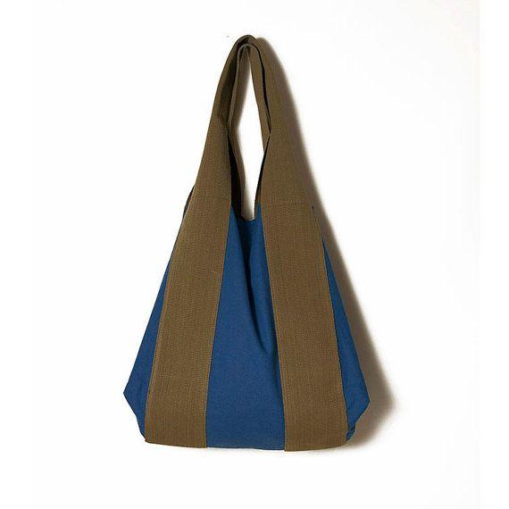 Blue large bagsMums large bagCity fabric by ElenaVandelliBags. #Blue_Bags. #Blue_Canvas