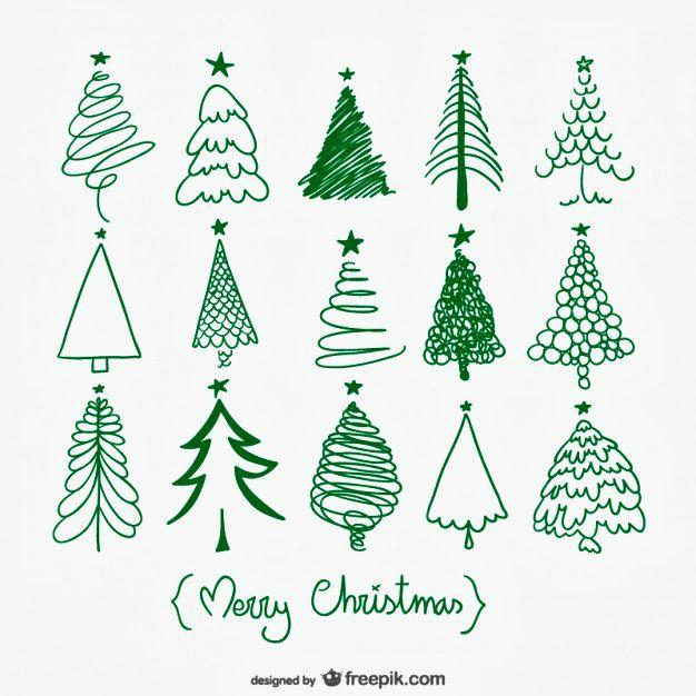 Manieren om een kerstboom te tekenen. #Kerstmis More