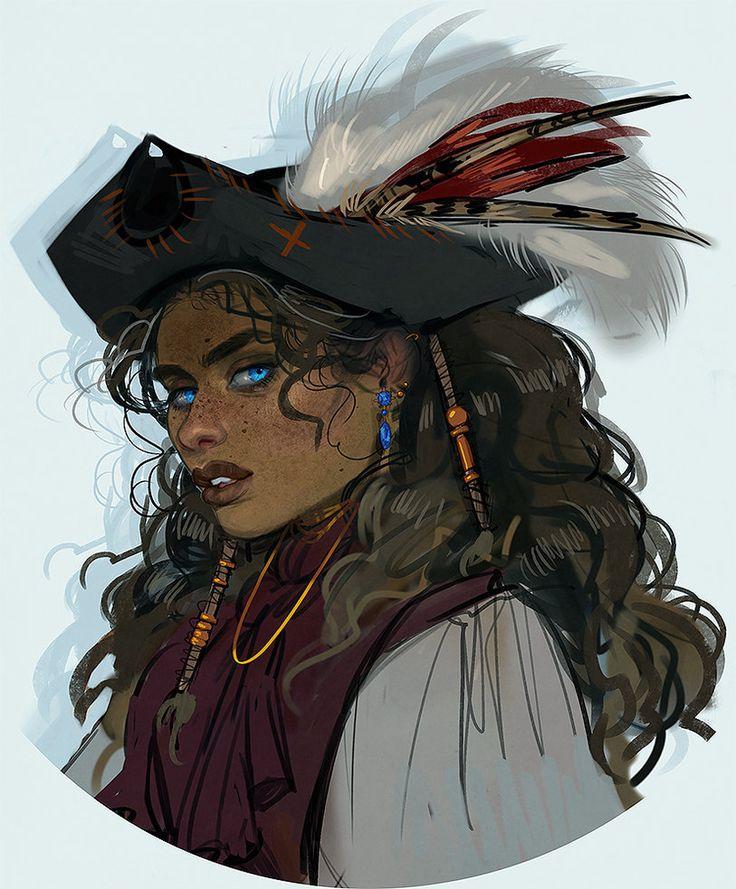 Female pirate drawing - photo#53
