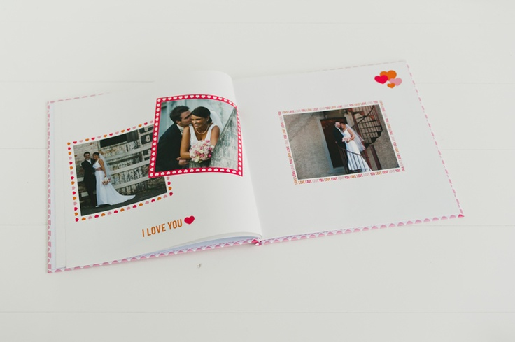 Design Theme: My Valentine  My Valentine is a gorgeous new range featuring sweet designs of all things lovely in bright pinks, oranges, reds and whites.    The classic heart shape is updated to decorate your next digital keepsake, Photobook, Memory Book or Calendar. There are also fun stamps and text to say 'I Love You' in the sweetest way.    With frames, scrapbooking items and backgrounds available in this gorgeous range it's the perfect choice to celebrate love.Heart Shape