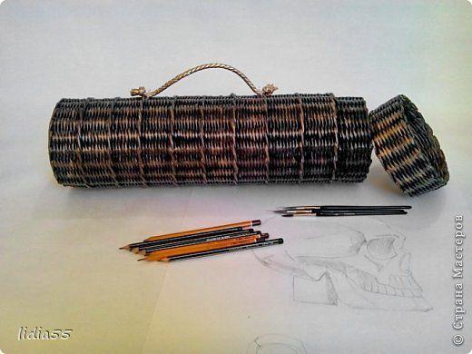 Поделка изделие Плетение совсем немножко Трубочки бумажные фото 1