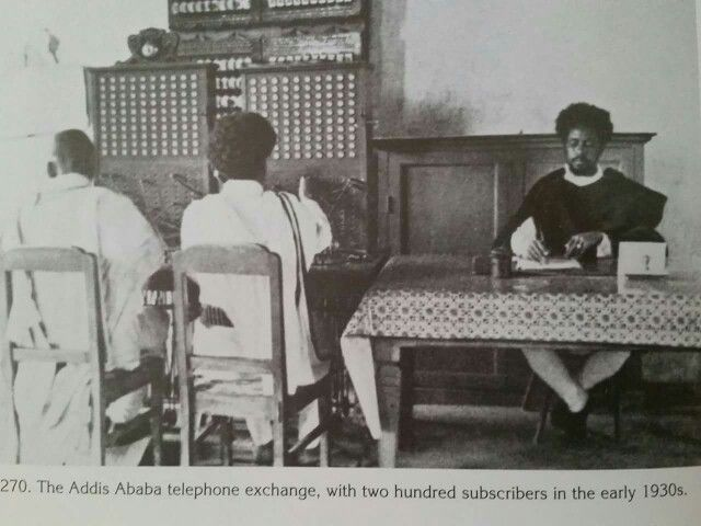 The Addis Ababa Telephone exchange in the early 1930s. Credit Richard Pankhurst & Denis Gerard: Historic Photographs of Ethiopia & its People from 1867 to 1935.