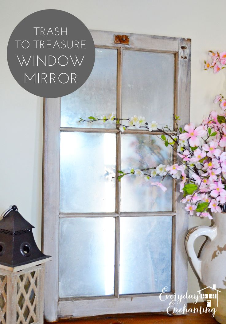 Turn an old barn window into an antique mirror!