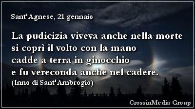 La #pudicizia viveva anche nella #morte si coprì il #volto con la #mano cadde a terra in #ginocchio e fu #vereconda anche nel cadere. (Sant'#Agnese, 21 gennaio - #Inno di Sant'#Ambrogio)