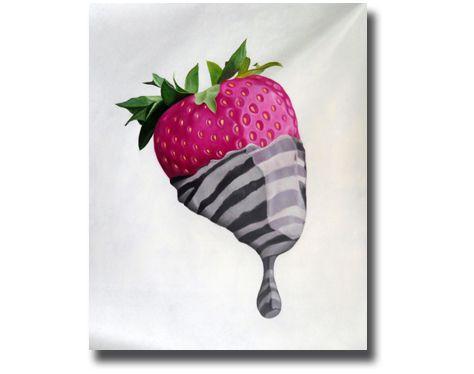 Ölgemälde Zebra Erdbeere | Gemälde | Ölgemälde | Leinwandbild  | Wandbild | Leinwandgemälde | Öl auf Leinwand | handgemalt  | Ölgemälde modern |Gemälde vom Foto | Auftragsmaler |  https://www.paintify.de/