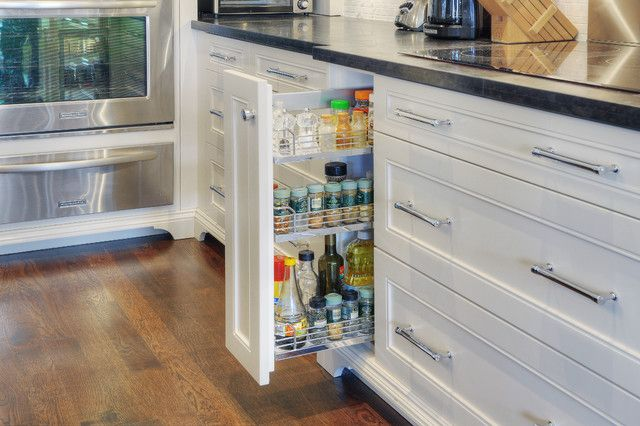 10 Inspiring : Kitchen Cabinet Pull Out Spice Rack Design: Contemporary Kitchen Cabinet Pull Out Spice Rack Themes White Color And Wooden Floor ~ shokoa.com Furniture Inspiration