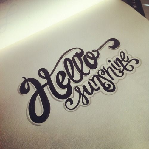 Hello sunshine! #lettering #letteringdaily #type #doodle #script #handdrawn