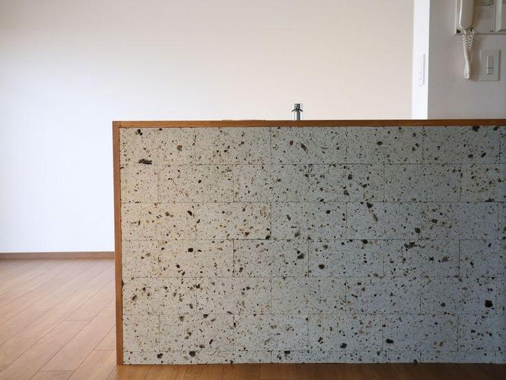 シンディーさんの長江陶業の調理台・カウンター『アートのような大谷石』(5696-6)