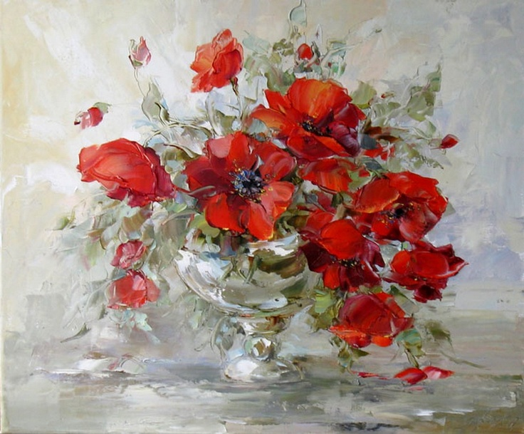 Oksana Kravchenko(b.1971) —  Poppies, 2009(980x811)