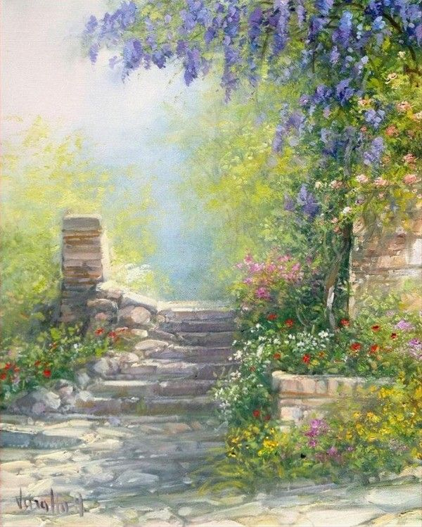 Spring Oil Painting Scenery