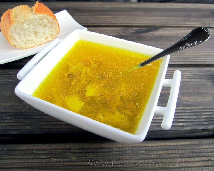 Sopa de pueblo Un  plato genial por 93 (kcal/100g) calorías.  Fácil receta casera, paso a paso.  http://www.recetasycalorias.com/2014/02/sopa-de-pueblo.html