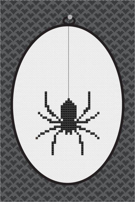 Cross stitch spiders | Spider Silhouette Cross Stitch PDF Pattern I by kattuna on Etsy