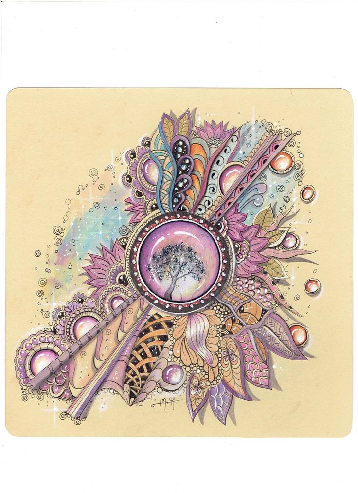 Martina Arend Beautiful Zentangle with Zengems