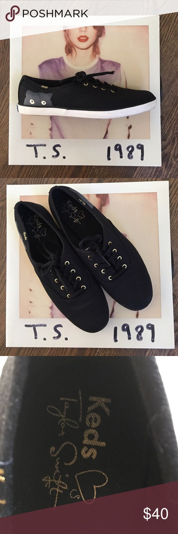 """Host PickTaylor Swift Keds Keds """"Taylor Swift Sneaky Cat""""  Size 8.5. Worn once. keds Shoes Sneakers"""