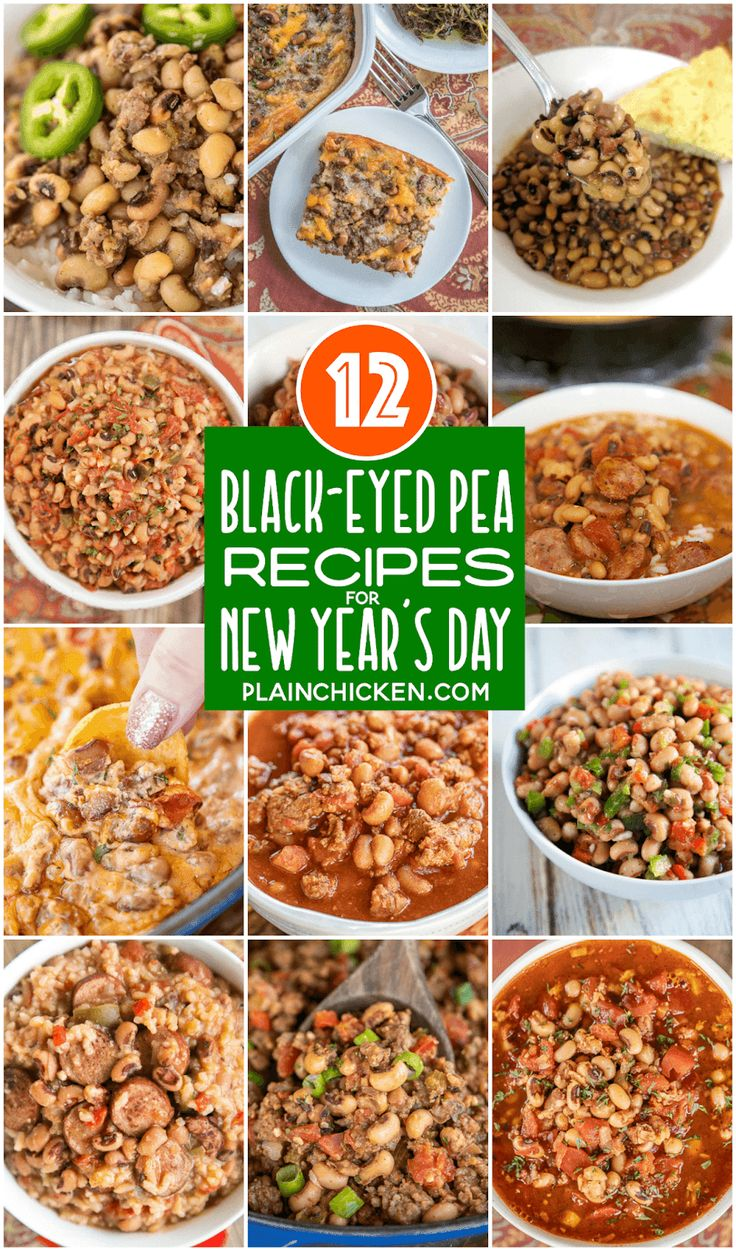 Black eye pea recipes for New Year's Day legend has it