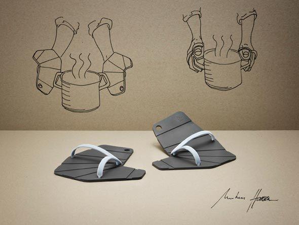 RIG-TIG by STELTON Pot holders :: Flip-flops for the hands.