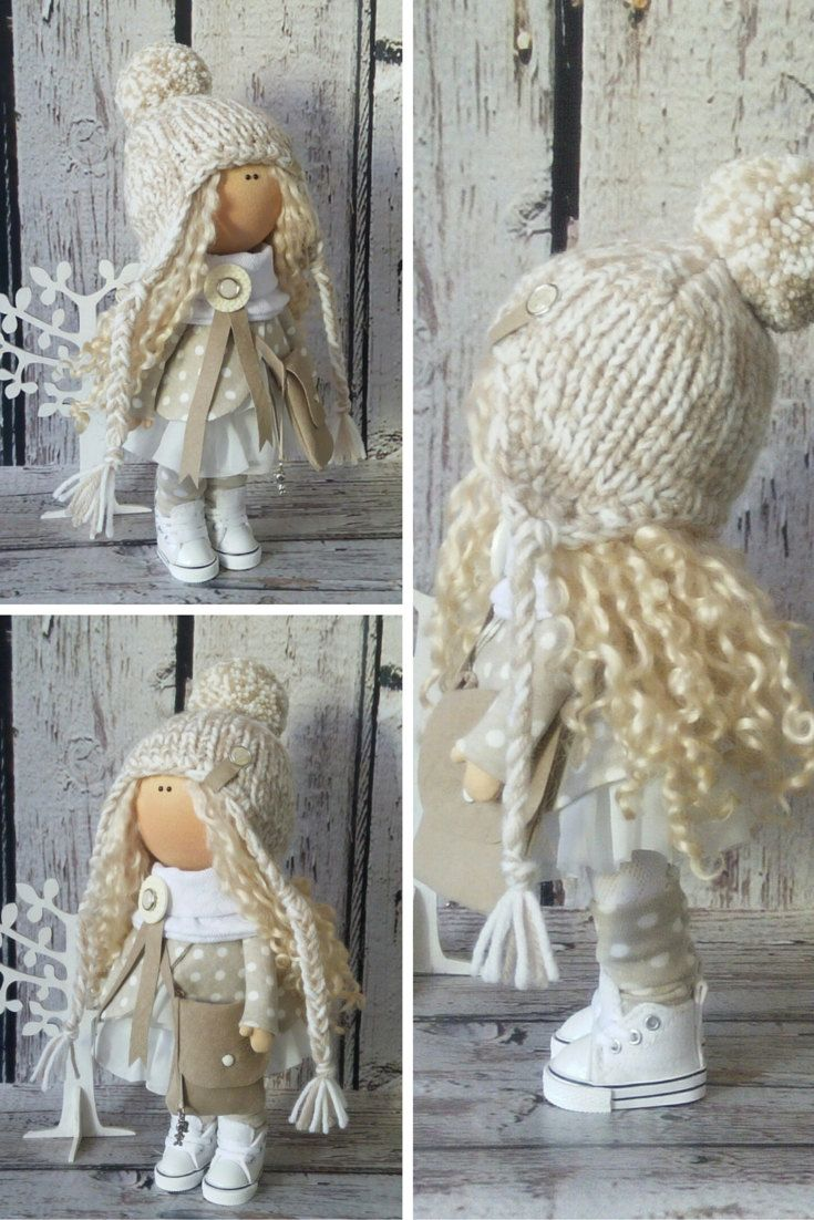 Snow doll doll Tilda doll Art doll handmade by AnnKirillartPlace