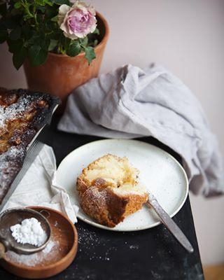 Dzień dobry /najprostsze na świecie ciasto z jabłkami, przepis na blogu  A piece of the cake with apples
