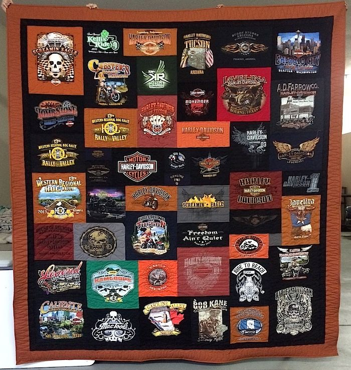 13 best Harley Davidson T-shirt Quilts images on Pinterest | Black ... : order t shirt quilt - Adamdwight.com