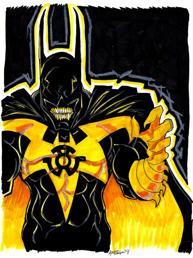 yellow lantern black - photo #10
