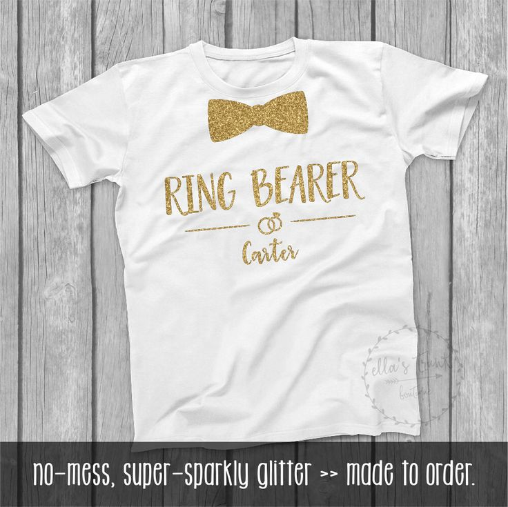 Ring Security Shirt Ring Bearer Shirt Bowtie Gold Glitter Ring Bearer Shirt Glitter Ring Security shirt, Wedding Ring Bearer t-shirt, TE399 by ellastrunk on Etsy https://www.etsy.com/listing/463073432/ring-security-shirt-ring-bearer-shirt