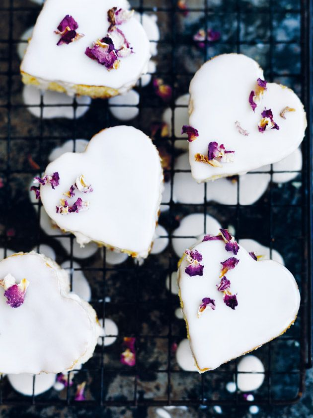 Vanilla Heart Cakes With Rosewater Icing | Donna Hay