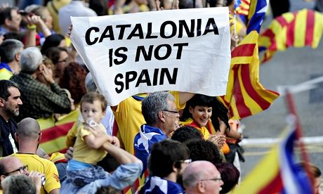 """Barcelona continue to back vote for Catalonia's secession from Spain - theguardian.com, 10 October 2014. Barcelona still supports Catalonia's push to vote on secession from the rest of Spain despite warnings that independence would mean the club's exclusion from La Liga. Barcelona """"was one of the first institutions to declare it was in favour of the right to decide,"""" the club said in a statement on Friday."""