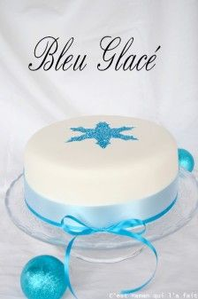 gateau bleu et argent pate a sucre pour noel (1)