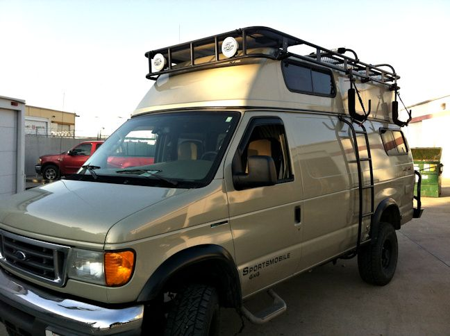 Fiberglass Top Roof Rack for Ford Van