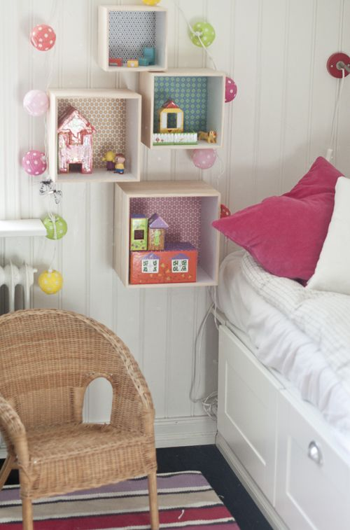 Little spaces for dolls!! Instead of having your kid be uncomfortable because of sleeping on her stuffed animals and Barbies :)