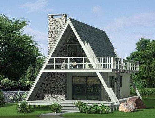Fachadas de casas alpinas con piedra y madera arnoldo for Fachadas de casas de madera