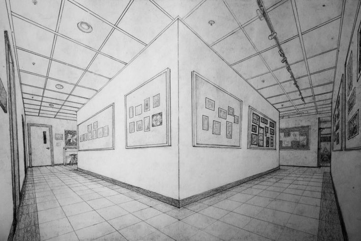school hallway drawing - 564×377