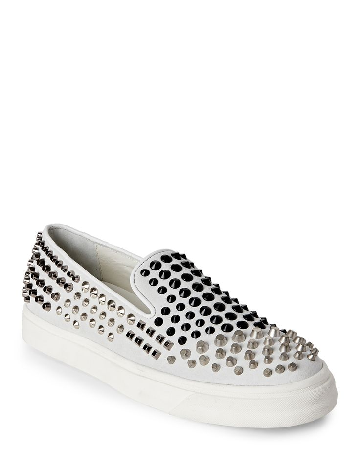 Giuseppe Zanotti Design Off White London Spiked Slip On Sneakers
