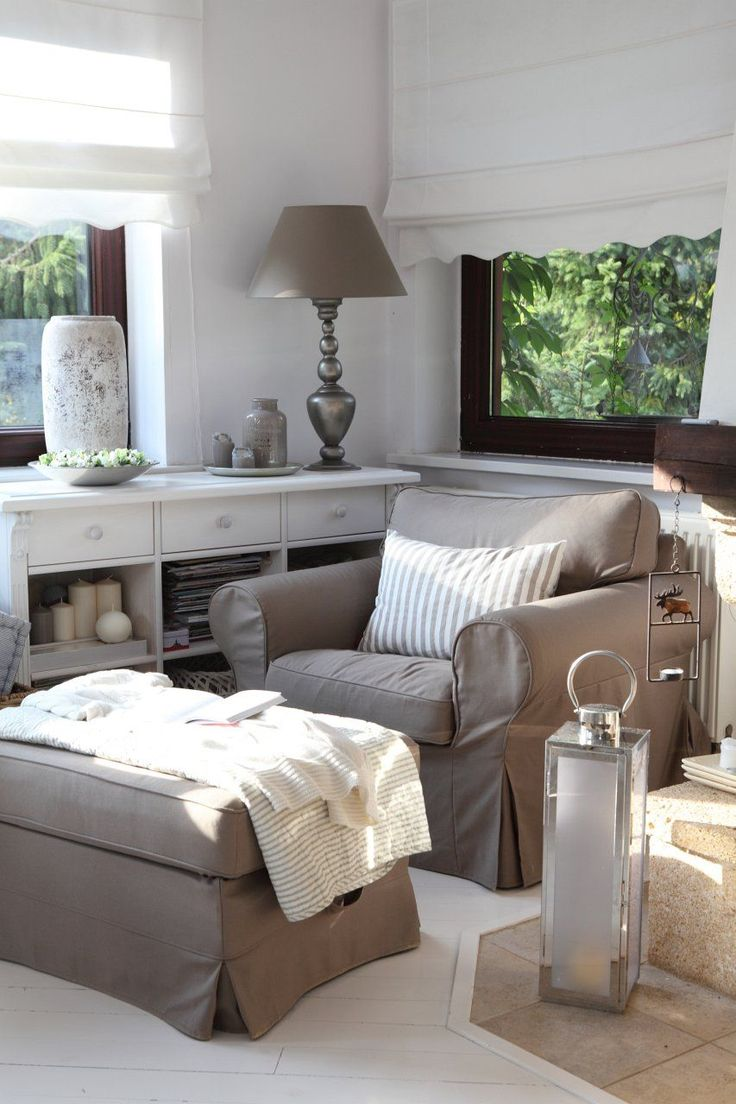 Ganz #gemütlich: in so einem #Sessel kann man entspannte Stunden verbringen.