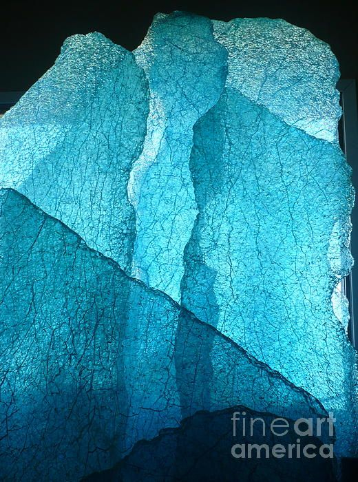 Glacial Wall by Rick Silas - Original Glass Art Sculpture - Fine Art Prints and Posters for Sale