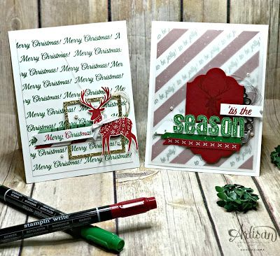 The Merry Patterns Stamp Set is the perfect for all your holiday crafting needs. From cards to gift packaging and everything else in-between! This is sure to be a go-to set! -Dani Dziama