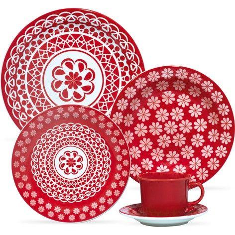 Ap. Jantar e Chá com 20 peças-Renda -  OXFORD PORCELANAS               $ 224,81